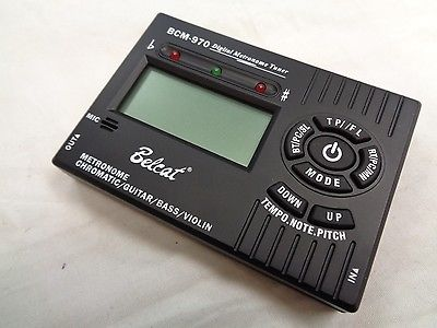 The Belcat BCM970 Digital Metronome and Tuner