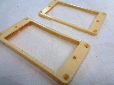 Cream Curved Humbucking Pickup Ring Set