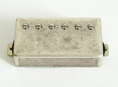 Artec Alnico 5 Les Paul Humbucker Bridge Pickup Relic Nickel Cover