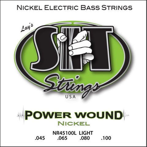 SIT Strings Power Wound Electric Bass Strings, Light 45-100