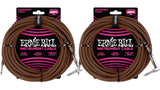 25ft Braided Straight Angle Inst Cable Black Orange