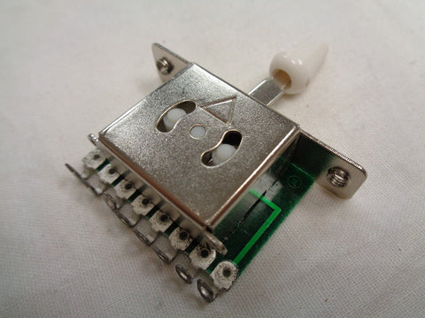 5-Way Switch with white cap for strat and tele style guitars