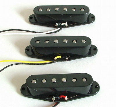 Belcat Alnico V Vintage Single Coil Pickup Set Black