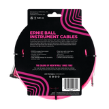 Ernie Ball 10ft Braided Straight Angle Inst Cable Neon Pink 2 Pack
