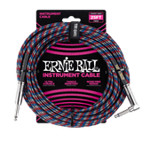 25ft Braided Straight Angle Inst Cable Black Red Blue White