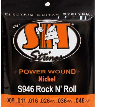 SIT 3-Pack Nickel Wound Electric Guitar Strings - Rock 'n' Roll (9-46)