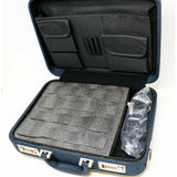 4 Microphone Carrying Case Mic Instrument Storage Portable Flight Box Blue Color