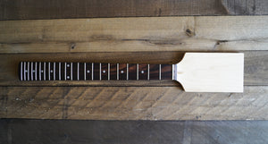 "Eden Paddle Guitar Neck 24"" Scale Maple/Rosewood 22 Jumbo Frets Dot Inlay"