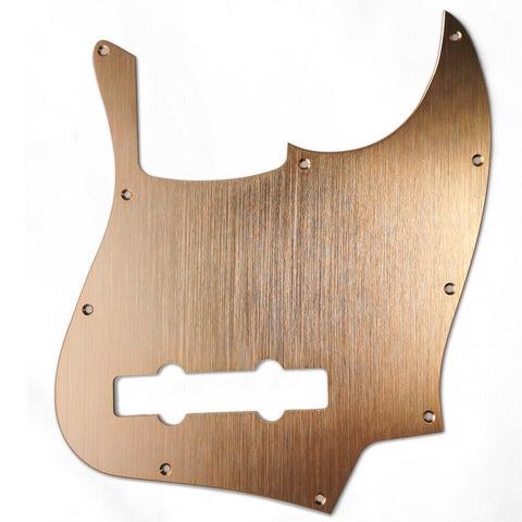 American Standard 5-String Jazz Bass Pickguard Gold Brushed Aluminum Finish