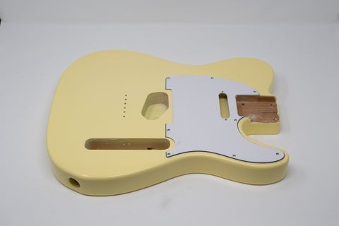 Eden® Standard Series DIY Alder Tele Guitar Body HS Vintage Yellow