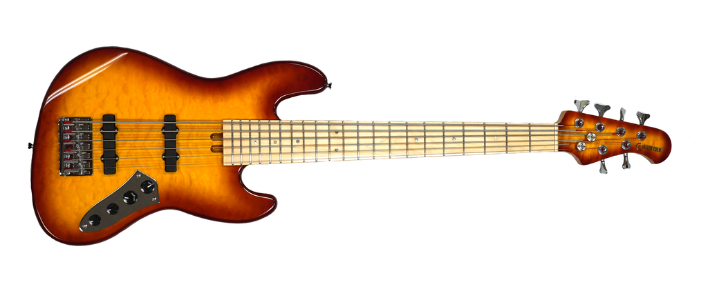 Allen Eden Disciple 6 Quilted Maple Burst with matching Headstock