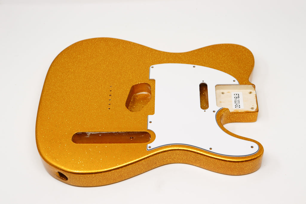 Eden® Standard Series DIY Paulownia Body Hardtail Tele Gold Sparkle Flake