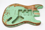 Allen Eden Nitro Finish Relic Series DIY Alder Strat Hardtail Body Seafoam Green