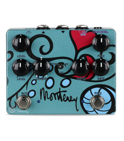 Keeley Monterey Rotary Fuzz Vibe Multi-effects Pedal