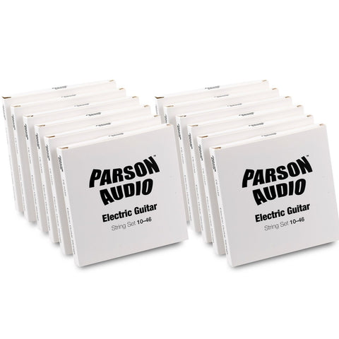 Parson Audio Electric Guitar Strings 10-46 12 Pack