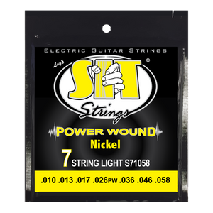 SIT 3-Pack Nickel Wound 7 String Electric Guitar - Light (10-58)