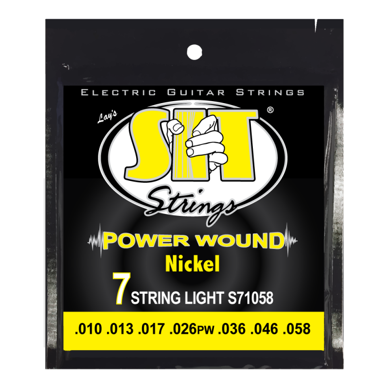SIT 6-Pack Nickel Wound 7 String Electric Guitar - Light (10-58)