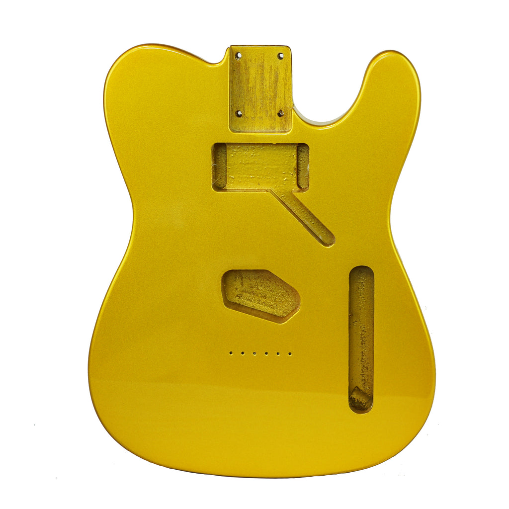 Premier Series DIY Alder Tele Guitar Body HS Metallic Gold