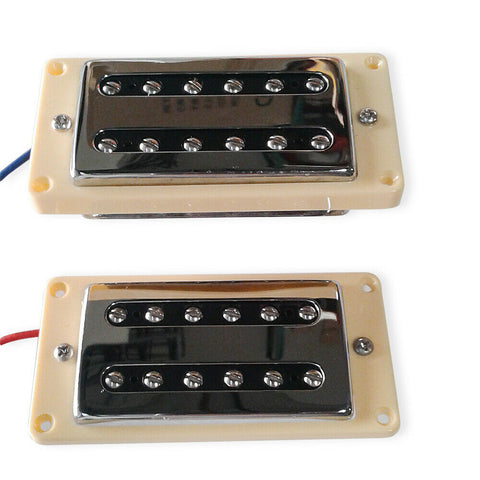 Artec Classic Filtertron Humbucker Bridge and Neck Pickup Chrome Set Cream Rings