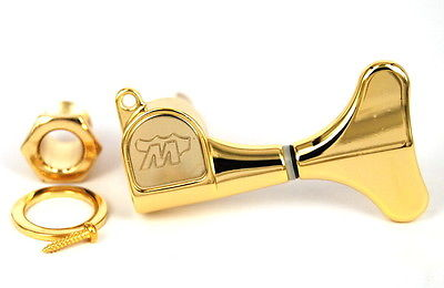Wilkinson Diecast Bass Tuner Tuning Peg Gold Left Handed Lefty