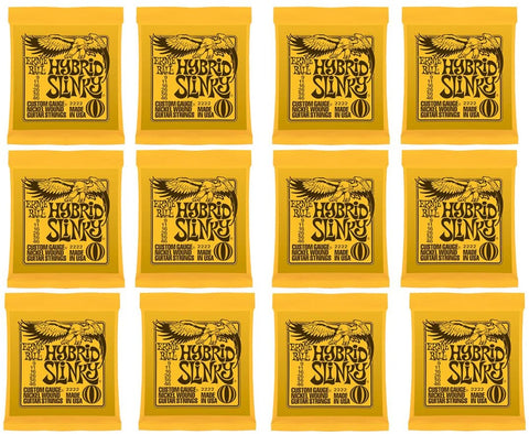 Ernie Ball Hybrid Slinky Nickel Wound Electric Guitar Strings - 9-46 Gauge 12 Pack