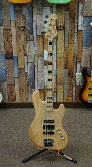 J&D Guitars 4 String Electric Bass Natural Finish