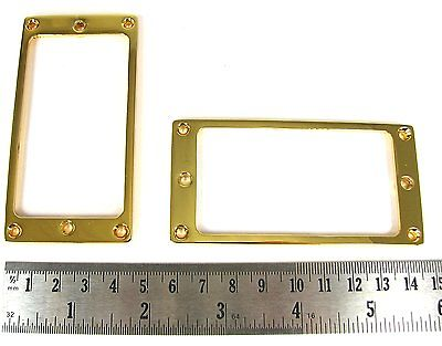 Gold Mini Flat Humbucker Rings Set
