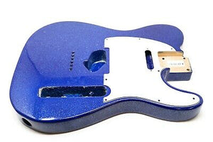 Eden® Premier Series Alder Tele Guitar Body HS Blue Sparkle Flake