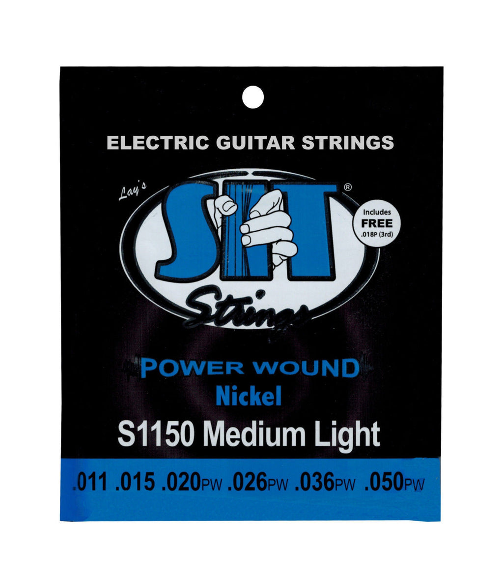 SIT Strings S1150 Medium Light Power Wound Nickel Electric Guitar Strings 12 Pack