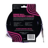 Ernie Ball 25ft Braided Straight Angle Inst Cable Purple 2 Pack