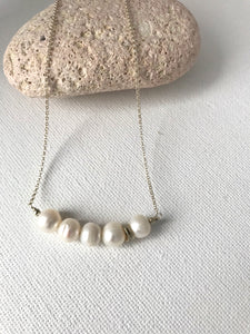 Pearl and Sterling Silver Necklace - alisonwalshjewellery