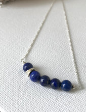 Load image into Gallery viewer, Lapis Lazuli and Sterling Silver Necklace - alisonwalshjewellery