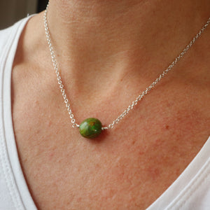 Green Mosaic necklace