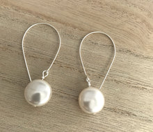 Load image into Gallery viewer, Pearl Coin Pearl Earrings - alisonwalshjewellery handmade bridal jewellery handmade Irish bridesmaid gifts
