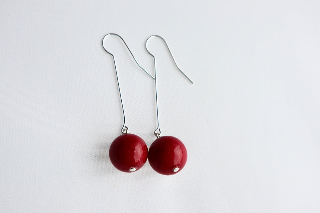 red jade irish design earrings alison walsh