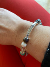 Load image into Gallery viewer, Silver Bar Multi Gemstone Bracelet