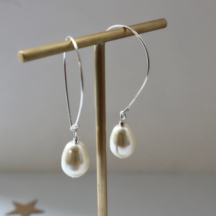 Ivory Teardrop Pearl Earrings