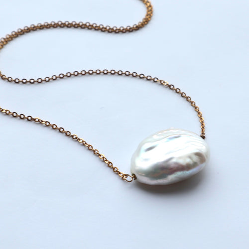 freshwater organic gold plated chain