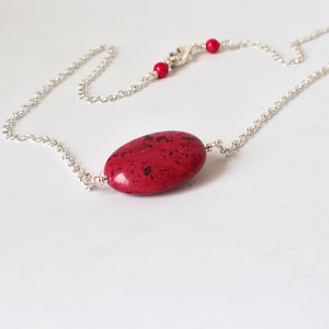 pink rhodonite handmade irish chain
