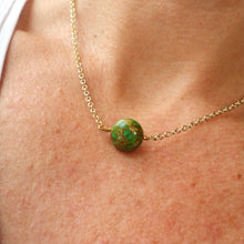 Load image into Gallery viewer, green mosaic gemstone handmade irish necklace