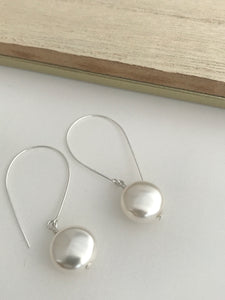 Pearl Coin Pearl Earrings - alisonwalshjewellery handmade bridal jewellery Irish bridesmaid jewellert