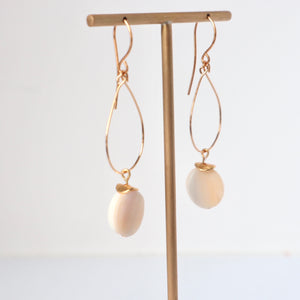 mother of pearl gold irish handmade earrings