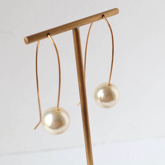 Pearl and Gold Earrings