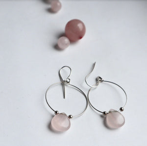 rosequartz pink bridesmaid handmadr jewellery