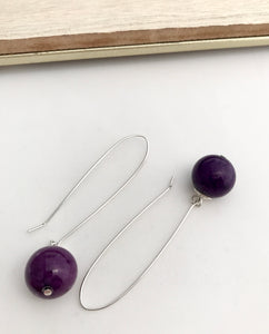 Purple Jade Earrings - alisonwalshjewellery