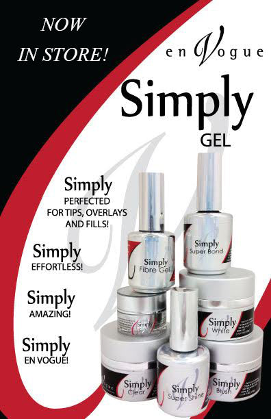 en Vogue Simply Gel Collection - Simply Super Bond, Simply Gel Clear, Simply Gel Blush, Simply Gel White, Simply Fibre Gel, Simply Super Shine