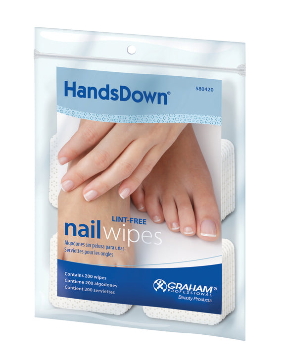 Hands Down Lint Free Nail Wipes