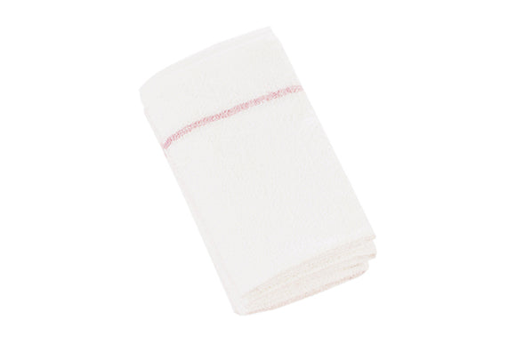 Towels - White w/Pink Stripe