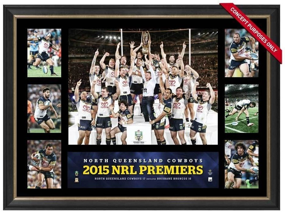 2015 North Queensland Cowboys Premiers Tribute Frame Fully Licensed by the NRL