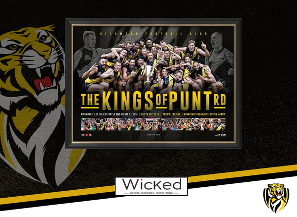 Richmond 2019 Premiers Framed Sportsprint – KINGS OF PUNT RD